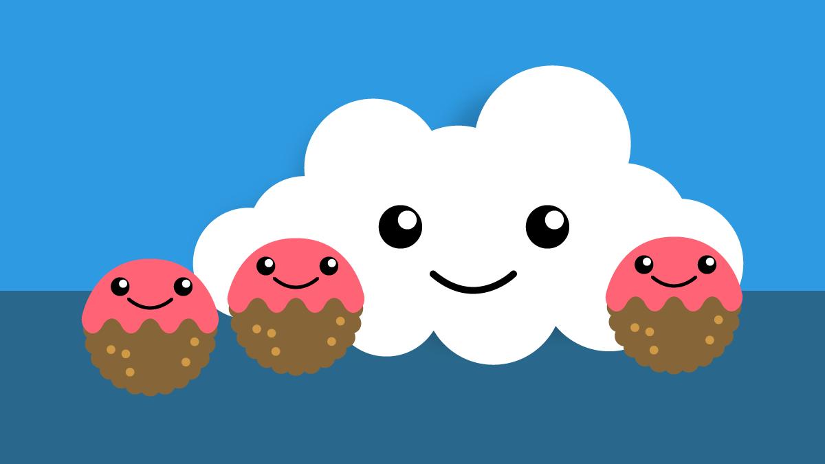 Влюбленное облако, по дороге с фрикадельками!